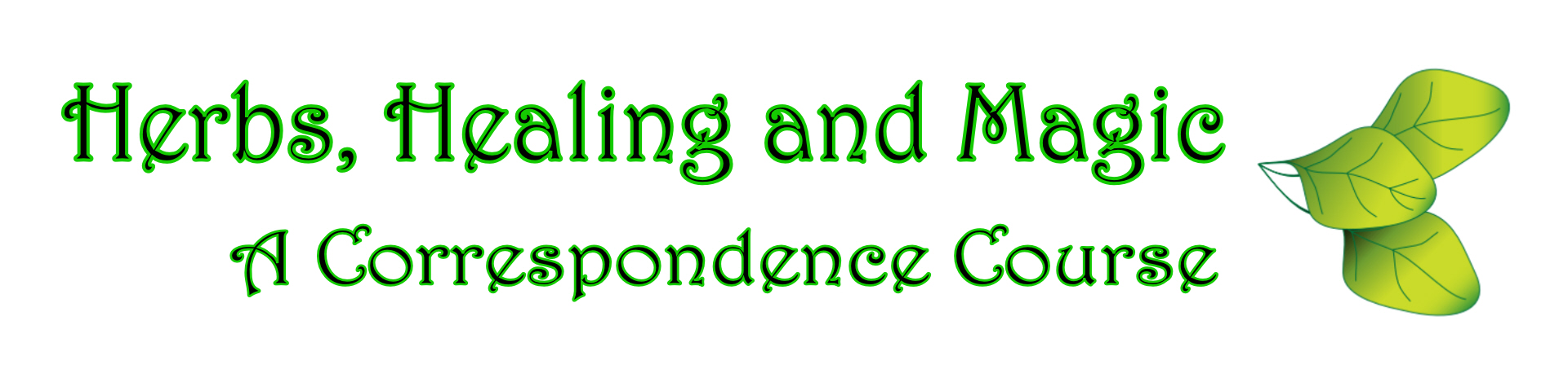 Link to the Herbs, Healing and Magic Correspondence Course